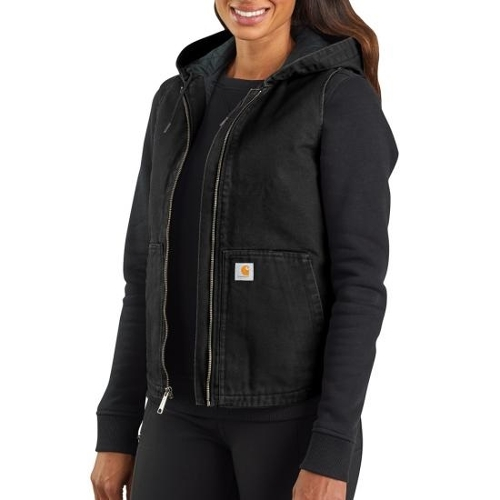 Washed Duck Ins Hooded Vest