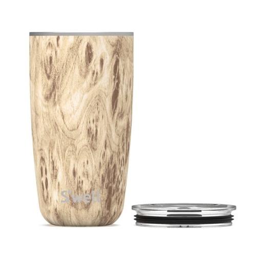 Blond Wood 18oz Tumbler W/ Lid