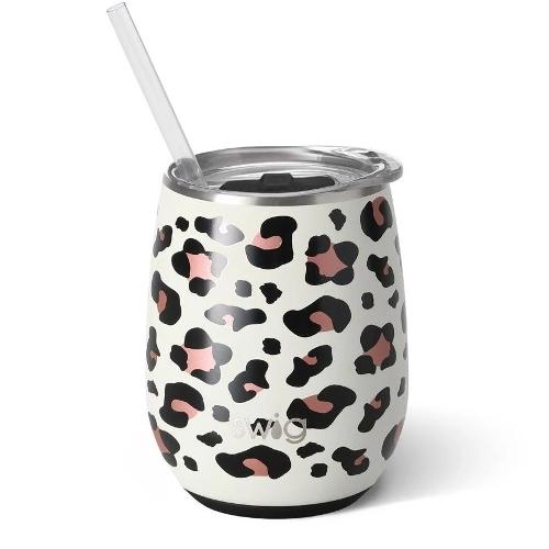 14oz Wine Cup - Luxy Leopard